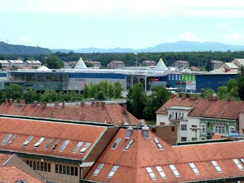 Maribor Europark from the cathedral