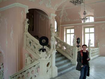 The Maribor Castle-baroque stairway