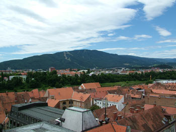 Pohorje from Maribor cathedral