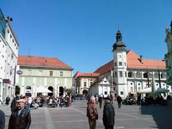 Maribor castle square