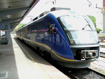 Local train in Maribor