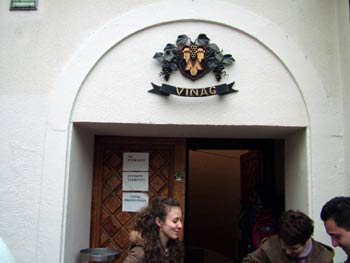 The entrance to Vinag wine cellar.