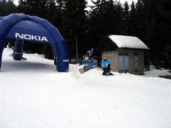 Pohorje snowboarding jump