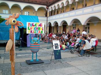 Puppet stage on Rotovz square.