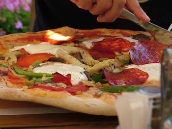 Enormous pizza...
