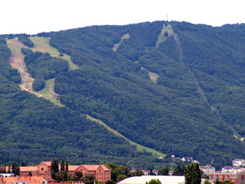 Pohorje skiing slopes from Maribor