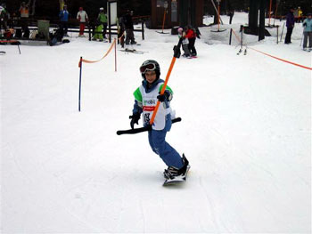 Pohorje kids snowboarding competition
