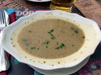 Restaurant Sarika mushroom soup